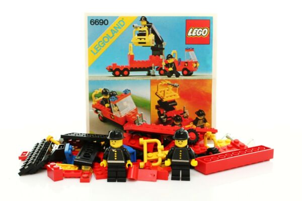 Lego Classic Town Fire Set 6690 Snorkel Pumper 100% complete instructions 1980