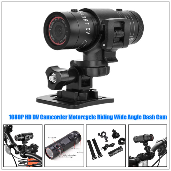 Motorcycle Bike HD DV Camcorder Riding Wide Angle Dash Cam Waterproof w Holder $41.33