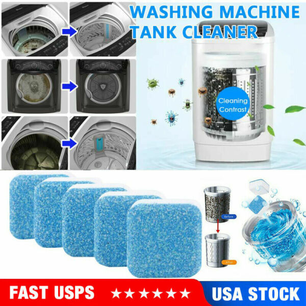 20 Pcs Washing Machine Cleaner Washer Deep Solid Cleaning Effervescent Tablets