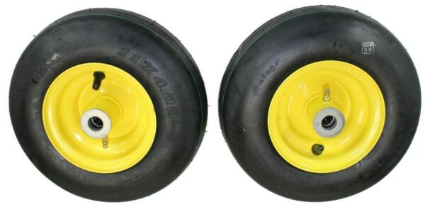 Set of 2 John Deere replacement AM101589 11x4.00 5 Pneumatic Tire amp; Wheel Assy