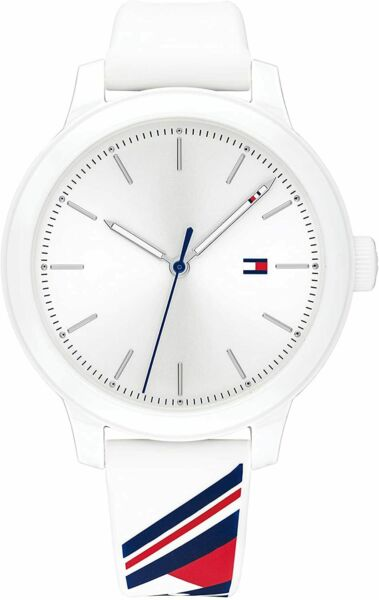 Tommy Hilfiger White Signature Flag Sport White Silicone Women's Watch 1782231 $59.95