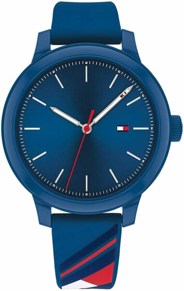 Tommy Hilfiger Blue Signature Flag Sport Silicone Women's Watch 1782232 $59.95