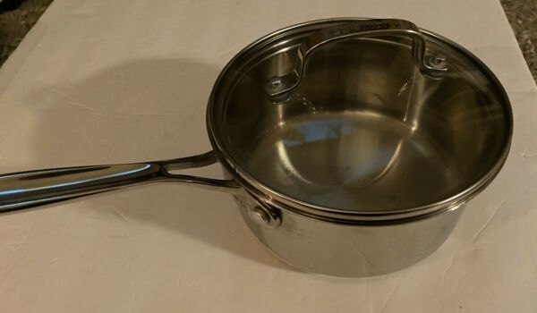 Cuisinart Stainless Steel 1.5 qt. Saucepan with Glass Cover Lid 719 16 G