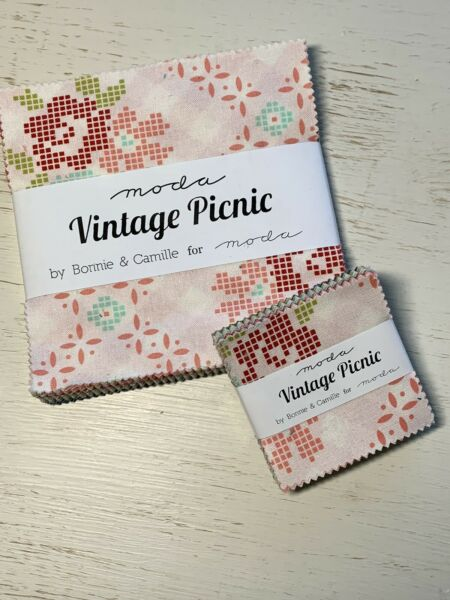 "Moda Vintage Picnic Bonnie Camille 5"" AND Mini Charm Pack OOP VHTF"