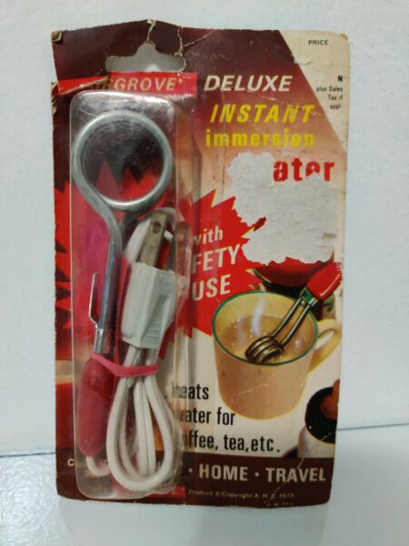 Instant Immersion Heater Fairgrove Office Home Travel #998 New 1982 $11.99