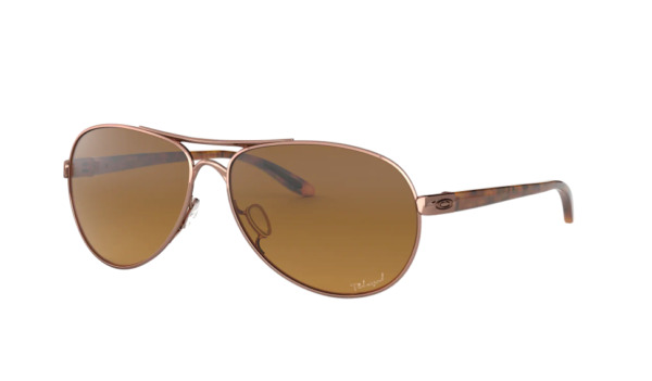 Oakley Sunglasses Feedback OO4079 1459 Rose Gold Brown Gradient Polarized 59mm $99.99