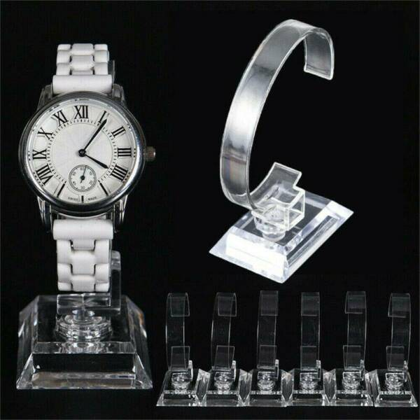 2021 Clear Plastic Wrist Watch Display Stand Holder Rack Show Case DIY Stand CA C $2.08
