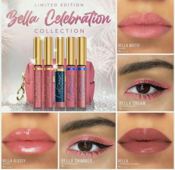 New SeneGence BELLA COLLECTION 6 piece set Includes bag and Oops Remover