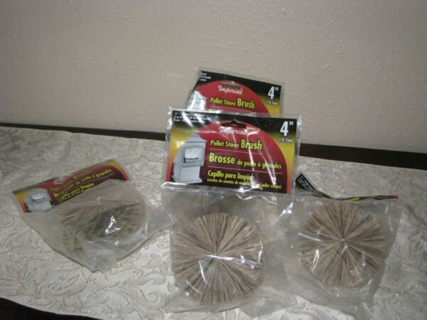 lot of 4 IMPERIAL 4quot; PELLET BRUSH CHIMNEY OR DRYER VENT BRUSH #BR0218 A NEW $35.00