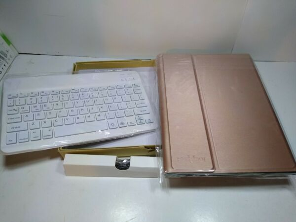 Bluetooth 3 system iOS Android Windows White Wireless Keyboard With Case $20.00