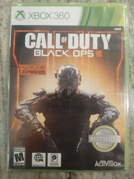 Call of Duty: Black Ops III Xbox 360 2015 Brand New Sealed Free Shipping $16.95