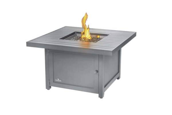 Napoleon Hamptons Grey Gas Fire Table Square