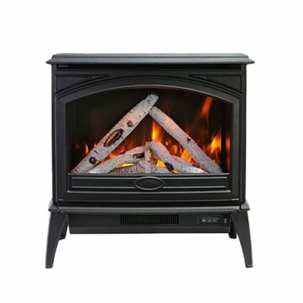 Sierra Flame by Amantii Freestand Series Electric Fireplace Cast Iron 70 Inch