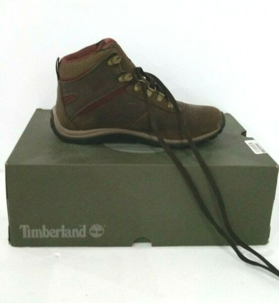 Timberland Women#x27;s Ankle Shoes Leather Closed Toe 09505 Dark Brown Size 7.5 M $41.00