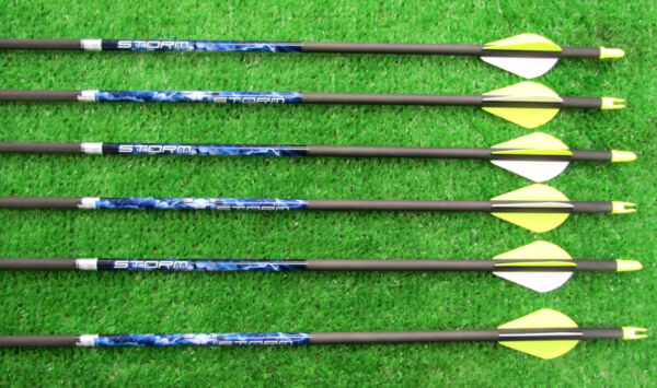 Easton Carbon Storm 400 50 65 Arrows 6 Pack Cut To Length FREE $42.95