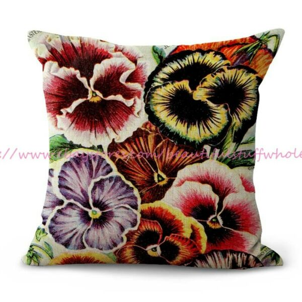 pansies Childs#x27; flower seed 1909 cushion cover patio furniture cushion covers $14.95