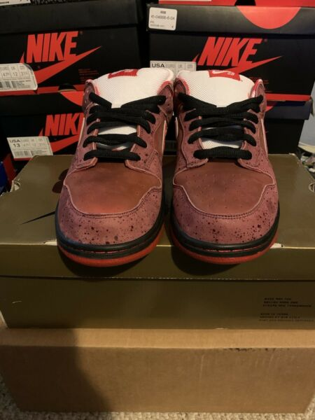 Nike SB Dunk Low Red Lobster pass as DS size 13 Gold Box rare travis purple blue