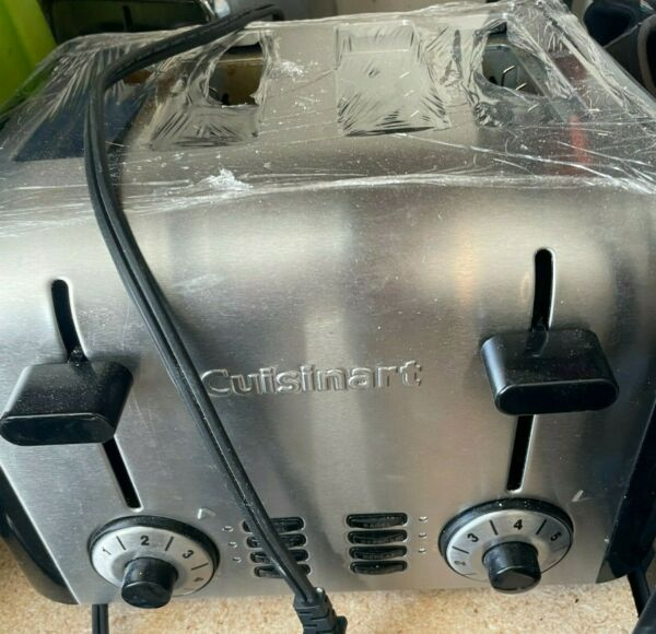 Cuisinart 4 Slice Toaster Brushed Stainless Steel Metal Classic Adjustable
