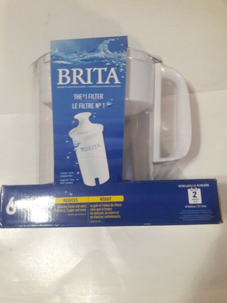 Brita 5 Cup Standart BPA Free Water Filter Pitcher White