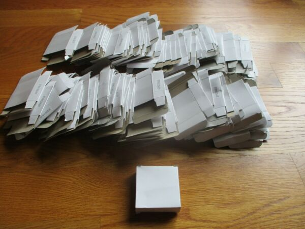 200 NOMINAL 2 1 2quot; X 2 1 2quot; X 7 8quot; Small White Cardboard Boxes $19.99