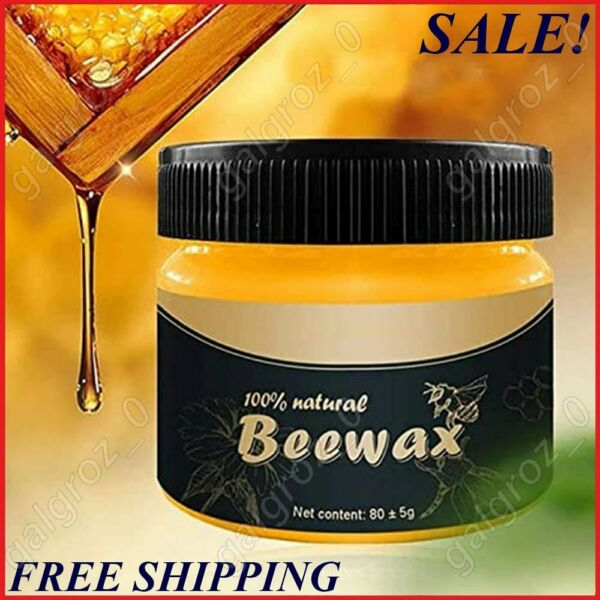 Natural Wood Seasoning Beewax Polish for Furniture Floor Protectantamp;Cleaner 80g $8.99