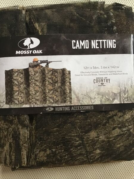 Mossy Oak Camo Netting 12ft x 56in Treestand Ground Waterfowl Hunting Blinds New