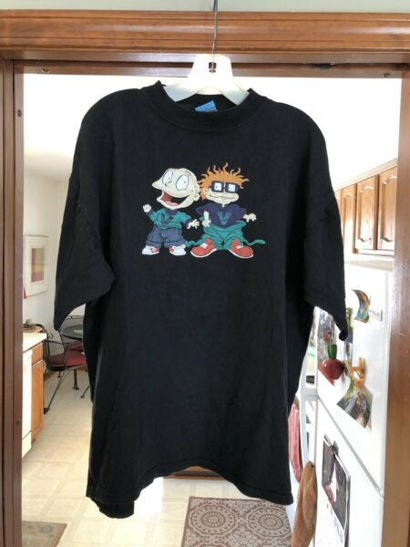 Vintage 1998 Nickelodeon Rugrats Tommy And Chuckie T Shirt Size XL Rap Tee RARE $249.99
