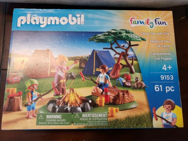 NEW Playmobil Camp Site With Fire Set 9153