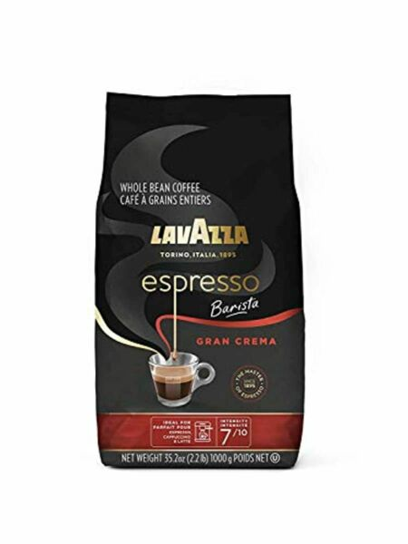 Lavazza Espresso Barista Gran Crema Whole Bean Coffee Blend Medium Espresso Roa