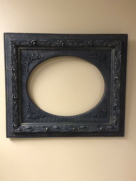 Antique Vintage Extra Large Wood Gesso Ornate Picture Frame 25 1 2 H x 29 1 4 W
