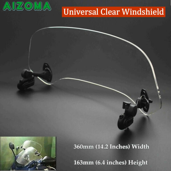 Motorcycle Clear Windshield Windscreen Extension Spoiler Air Deflector Universal