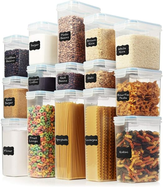 LARGE Set of 30pc Airtight Food Storage Containers 15 Container Set $59.99 $39.99