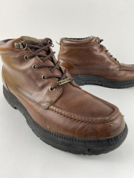 Timberland OAKWELL Brown Leather 5 Eye Lace Up Moc Toe Boots Men's Size US 11 M $35.00