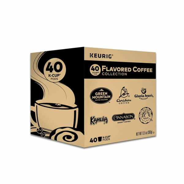 KEURIG FLAVORED COFFEE COLLECTION VARIETY PACK SINGLE SERVE COFFEE KCUPS 40CT