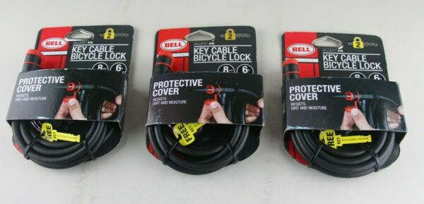 3 Bell Ballistic 400 Key Cable Bicycle Locks Heavy Duty Steel Cable 5 Ft 8mm $33.99