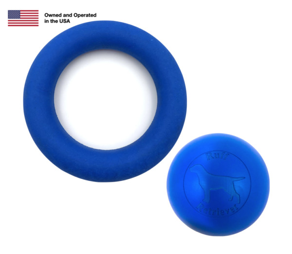 Indestructible Dog Ball and Ring by Ruff Retriever Extreme Chewer $19.95