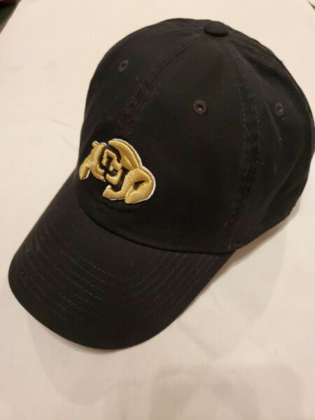 NWOTs Top Of The World NCAA Colorado Buffaloes Black XL Fitted Franchise Cap $14.99