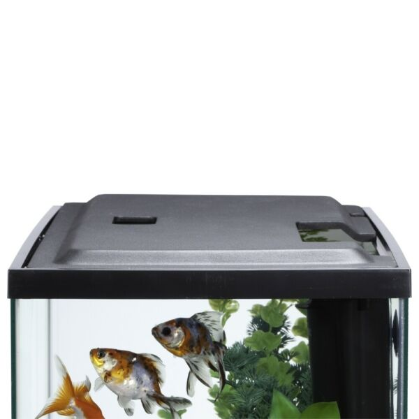 10 Gallon Fish TANK HOOD with LED Light Aquarium Cover with Easy Access Cutouts $29.91