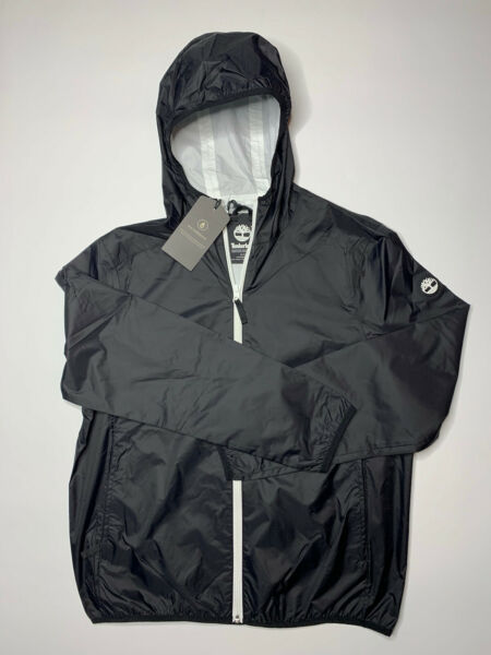 New Men's Medium Timberland Mt. Franklin Waterproof Raincoat Black MSRP $128 $49.00