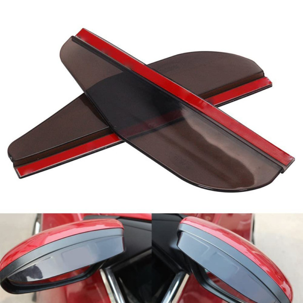 Black Rear View Side Mirror Rain Board Eyebrow Guard Sun Visor Car Accessories S $8.99