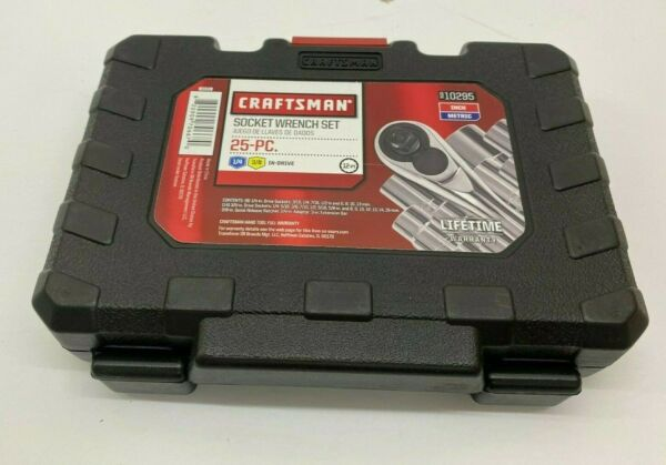 Craftsman 10295 25 pc 3 8quot; amp; 1 4quot; Drive Socket Wrench Set SAE Standard amp; Metric