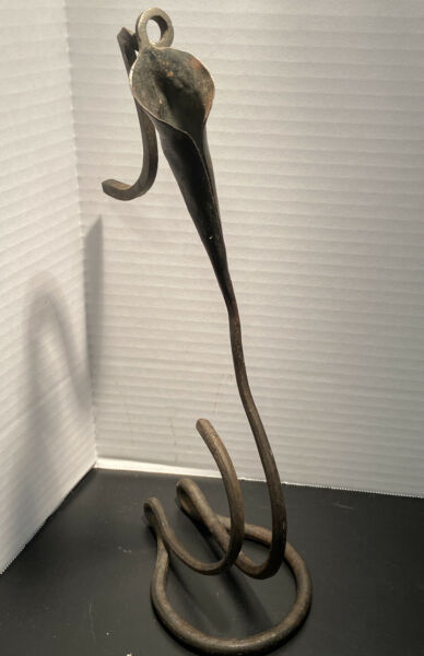Hand Wrought Lily Candleholders by Jack Brubaker Stampeded
