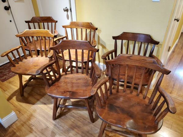 Set of 6 Wingdale New York Hunt Country Furniture captain chairs LOCAL PICK UP $499.00