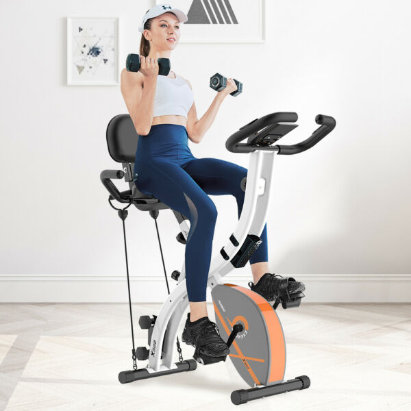 Recumbent Magnetic Exercise Bike Bike Seated Cardio Elliptical Exercise Machine $177.99