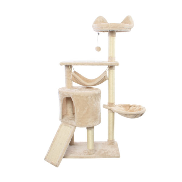 52#x27;#x27; Cat Tree with Sisal Covered Posts Pet Furniture Play House for Cats $50.34