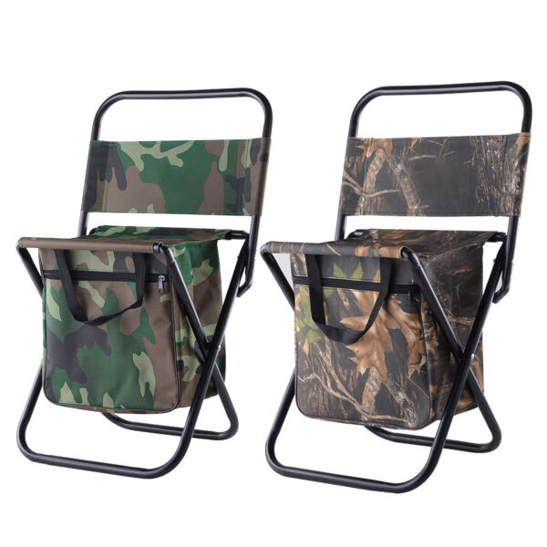 Portable Folding Camping Chair Bag Lightweight Backpack Outdoor Camping Fishing