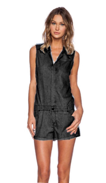 Insight51 Boiler Suit Short Romper Black 90' Size Small $22.99