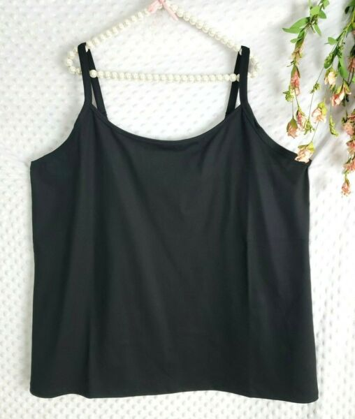 Torrid 5 Tank Top NWOT New Black Thick Fabric Stretch Active Womens 4X 5X $18.35