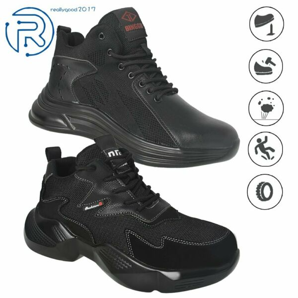 Mens Safety Work Shoes Indestructible Steel Toe Boots Lightweight Sneaker US7 13 $28.49