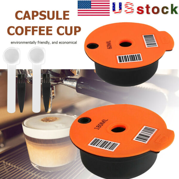 Reusable Coffee Capsule Filter Pod Cup Refillable For Bosch s Tassimo Tas Maker